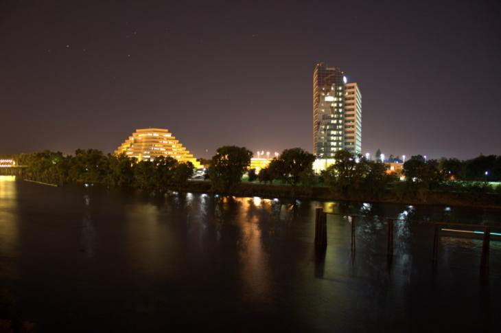 West Sacramento at night
