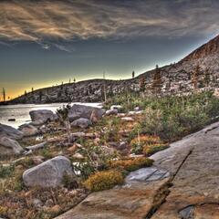 Sonnenuntergang in Desolation Wilderness (HDR)