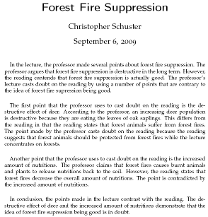 short essay on forest fire