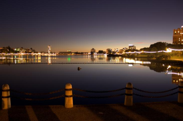 Lake Merrit at night, Oakland