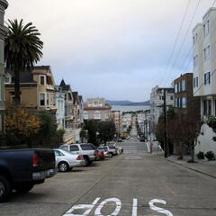 The roads near Russian Hill