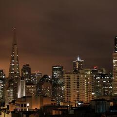 San Francisco's Financial District by night
