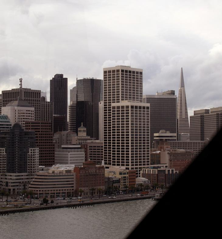 San Francisco's Financial District as seen from the Bay Bridge