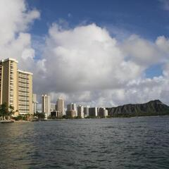 Waikiki and the Diamond Head in the background