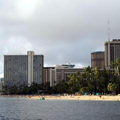 Hotels and Beach in Honolulu