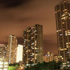 Waikiki Hotels at night