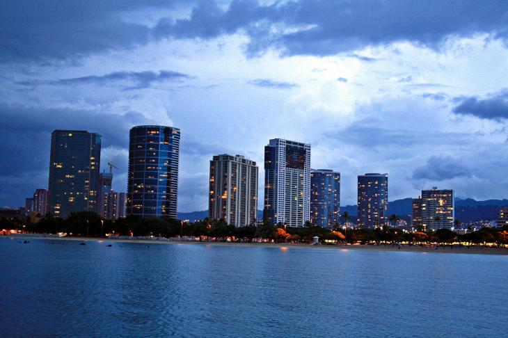 View from the Ala Moana Park